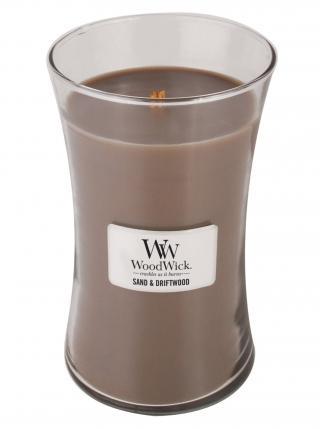 WoodWick vonná svíčka Sand & Driftwood velká váza hnědá