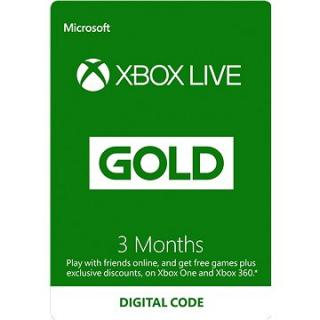 Xbox Live Gold - 3 měsíční členství