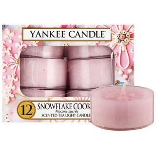 Yankee Candle Snowflake Cookie čajová svíčka 12 x 9,8 g 12 x 9,8 g