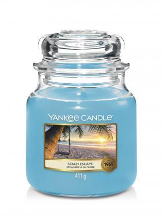 Yankee Candle vonná svíčka Beach Escape Classic střední modrá