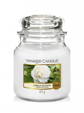 Yankee Candle vonná svíčka Camellia Blossom Classic střední bílá