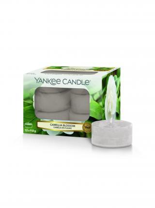 Yankee Candle vonné čajové svíčky Camellia Blossom šedá