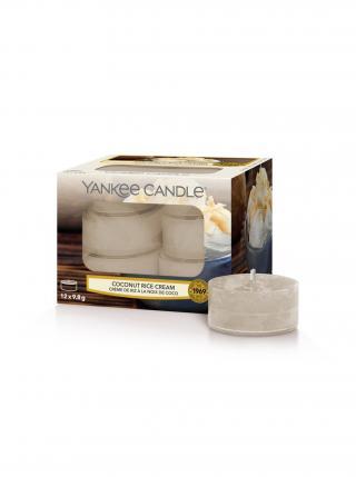 Yankee Candle vonné čajové svíčky Coconut Rice Cream béžová