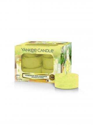 Yankee Candle vonné čajové svíčky Homemade Herb Lemonade žlutá