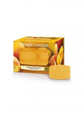 Yankee Candle vonné čajové svíčky Mango Peach Salsa žlutá