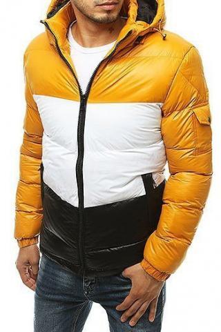 Yellow mens quilted winter jacket TX3428 pánské Neurčeno S