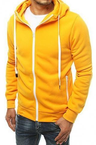 Yellow mens zipped hoodie BX4690 pánské Neurčeno M