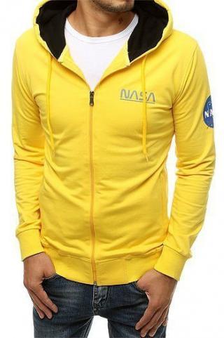 Yellow mens zipped hoodie BX4712 pánské Neurčeno M