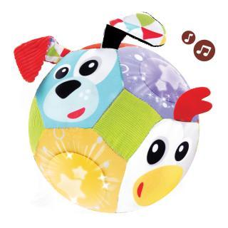 YOOKIDOO Veselý míč se zvířátky mix barev