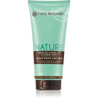 Yves Rocher Nature Cedar Wood & Lime sprchový gel na tělo a vlasy 200 ml dámské 200 ml