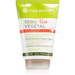Yves Rocher Sebo Pure Végétal hloubkově čisticí gel 3 v 1 125 ml dámské 125 ml