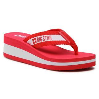 Žabky BIG STAR - HH274A095 Red dámské Červená 36