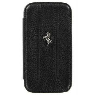 Zadní kožený kryt Ferrari pro Samsung Galaxy S4, black