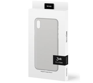 Zadní kryt 3mk NaturalCase pro Apple iPhone XS, transparentní bílá