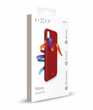 Zadní kryt FIXED Story pro Realme 6i / Realme C3, červený