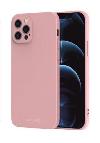Zadní kryt Swissten Soft Joy pro Apple iPhone XS/X, pískově růžová