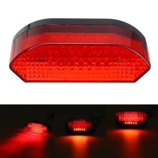 Zadní výstražné LED světlo na motorku Barva: červená