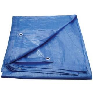 Zakrývací plachta s oky 4x6m 70g/m2 modrá 463257