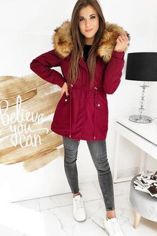 ZALMAN maroon 2in1 womens winter parka jacket TY1521 dámské Neurčeno M