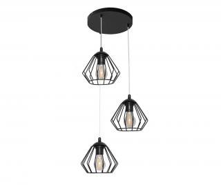 Závěsná lampa Agat Round Black Černá