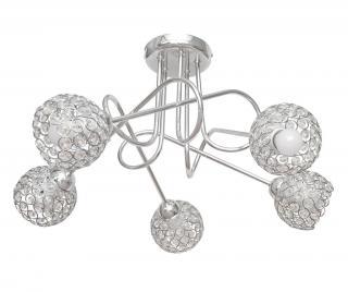 Závěsná lampa Oxford Grey Five Šedá & Stříbrná