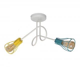 Závěsná lampa Oxford Two White Mix Vícebarevná
