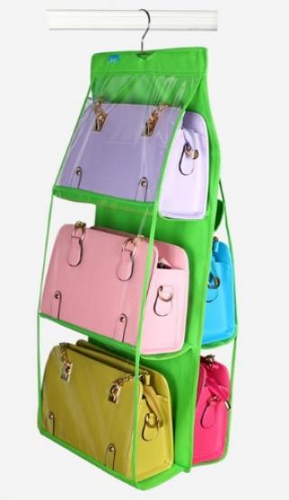 Závěsný organizér na kabelky - 8 barev Barva: zelená