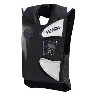 Závodní Airbagová Vesta Helite E-Gp Air  Černo-Bílá  S S