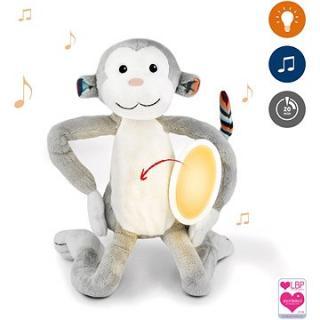 ZAZU - Opička MAX plyšové noční světlo s melodiemi