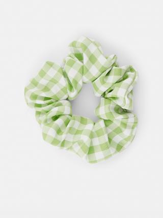 Zelená kostkovaná gumička Pieces Mecks dámské