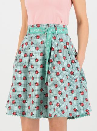 Zelená květovaná sukně Blutsgeschwister dámské XS