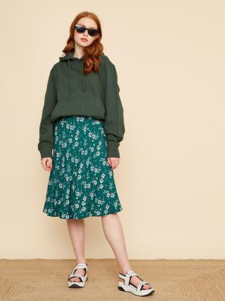 Zelená květovaná sukně ZOOT Kailyn dámské XL
