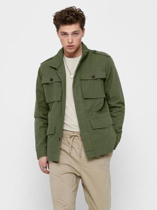 Zelená lehká bunda s kapsami ONLY & SONS Carter pánské S