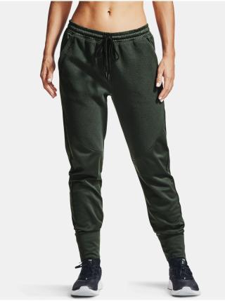 Zelené tepláky Under Armour Recover Fleece Pants dámské zelená M