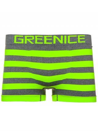 Zeleno-neonové pánské boxerky Bolf PL4692 XL/XXL