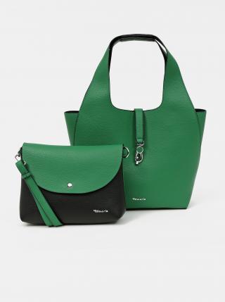Zelený oboustranný shopper s odnímatelným pouzdrem Tamaris dámské zelená
