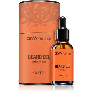 Zew Beard Oil with hemp oil olej na vousy s konopným olejem Matt 30 ml pánské 30 ml