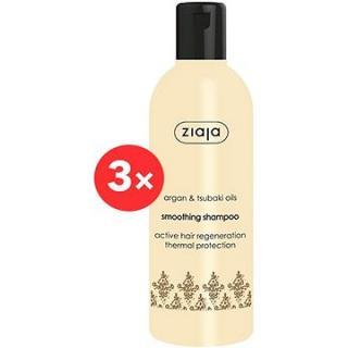ZIAJA Arganový olej Šampon vyhlazující 3 × 300 ml