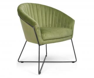 Židle Akira Black Lime Zelená