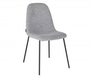 Židle Belle Šedá & Stříbrná