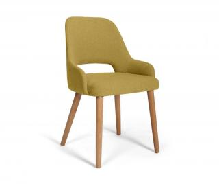 Židle Clark Norn Yellow Žluta & Zlatavá