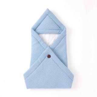 Zimní fusak s knoflíkem Barva: světle modrá, Velikost: 0-3 měsíce