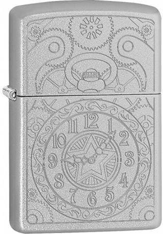 Zippo Benzínový zapalovač Clock Gadget 20428