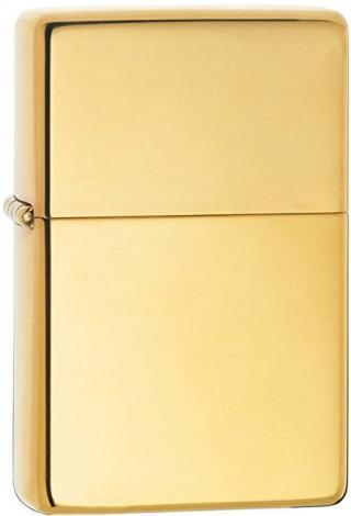 Zippo Benzínový zapalovač High Polish Brass Vintage 24129