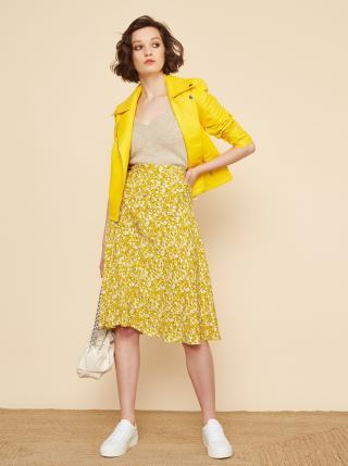 Žlutá květovaná sukně ZOOT Kailyn dámské XL