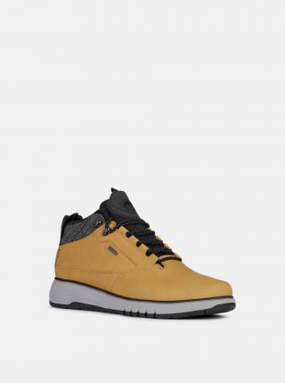 Žluté pánské kožené zimní boty Geox pánské žlutá 42