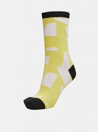Žluté vzorované ponožky Selected Femme Vida dámské žlutá ONE SIZE