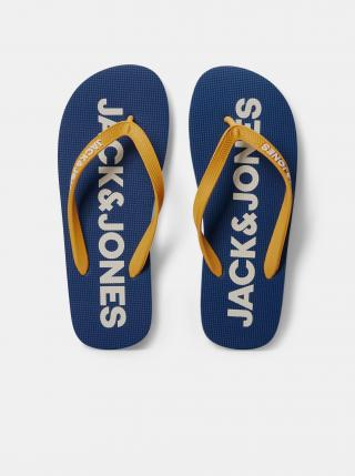 Žluto-modré žabky Jack & Jones Pop pánské modrá 40-41