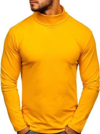 Žlutý pánský rolák bez potisku Bolf S6963 S