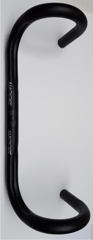 Zoom řidítka AL silniční 25,4/380mm černé